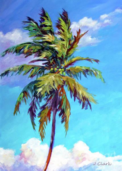 Wall Art - Painting - Tall Palm Tree 5x7 by John Clark