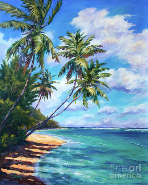 Wall Art - Painting - Tall Palms At North Side by John Clark