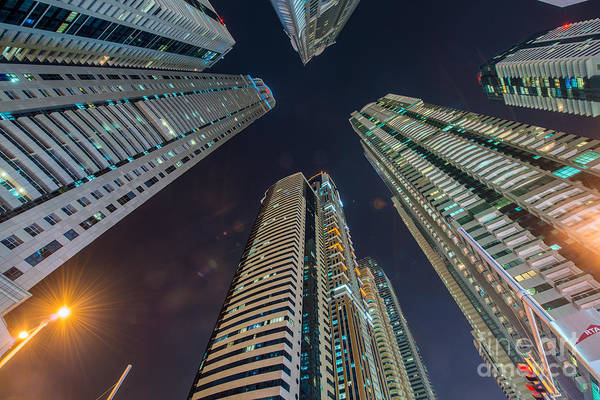 Wall Art - Photograph - Tall Residential Buildings In Dubai by Elnur