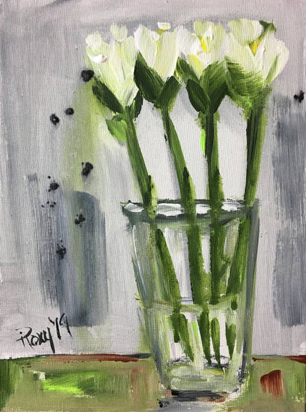 Wall Art - Painting - Tall Tulips by Roxy Rich