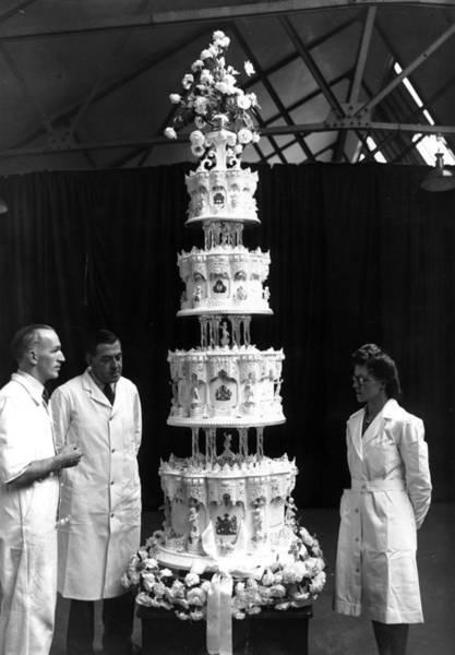 Wedding Cake Photograph - Tall Wedding Cake by J. A. Hampton