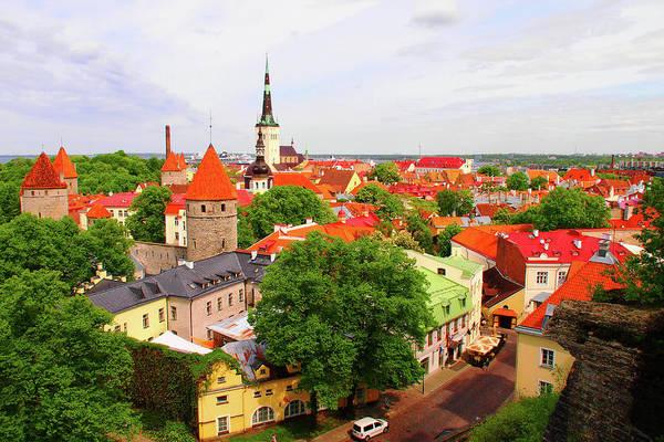 Shadow Photograph - Tallinn Old Town, Estonia by Annhfhung