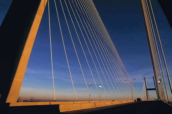 Savannah Photograph - Talmadge Bridge At Sunrise, Savannah by Juan Silva