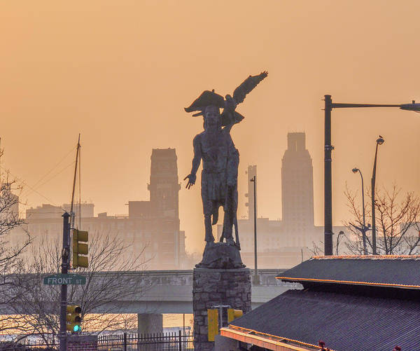 Photograph - Tamanend - Penns Landing Philadelphia by Bill Cannon