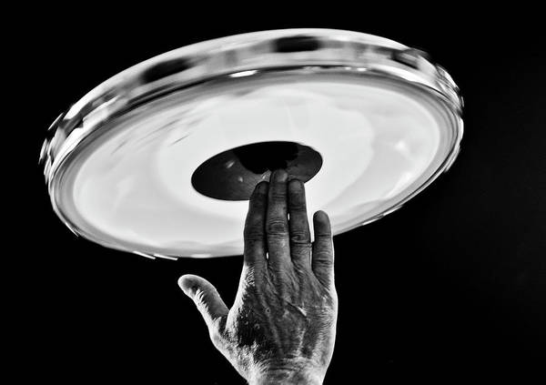 Human Hand Photograph - Tambourine by Levi Bianco