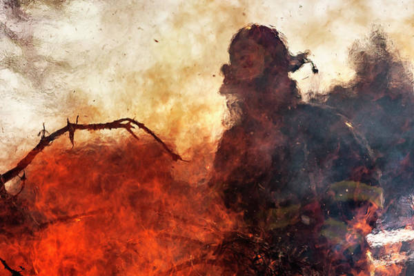 Firemen Photograph - Tame The Flames by Everet Regal