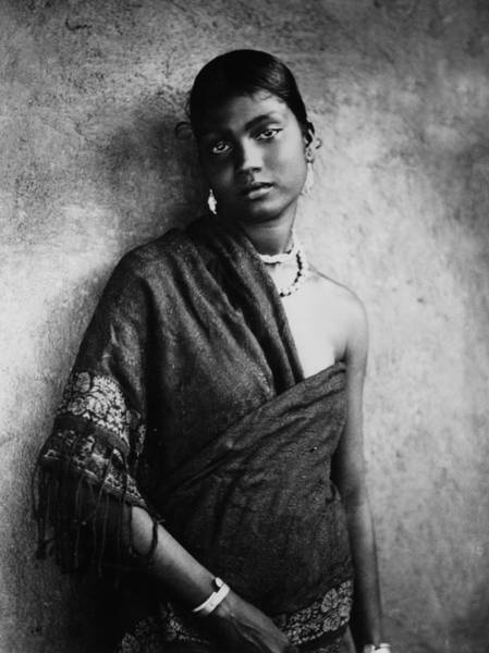 1924 Photograph - Tamil Girl by Hulton Collection