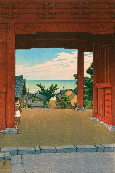 Japanese Shrine Painting - Tamonji - Top Quality Image Edition by Kawase Hasui