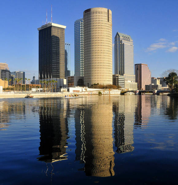 Wall Art - Photograph - Tampa And The Hillsborough by David Lee Thompson