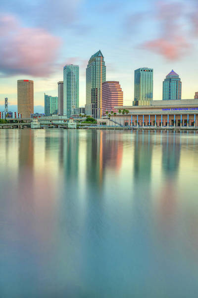 Cigar Photograph - Tampa Bay Skyline At Sunrise by Gregory Ballos