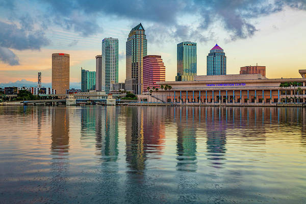 Photograph - Tampa Bay Skyline First Morning Light by Gregory Ballos