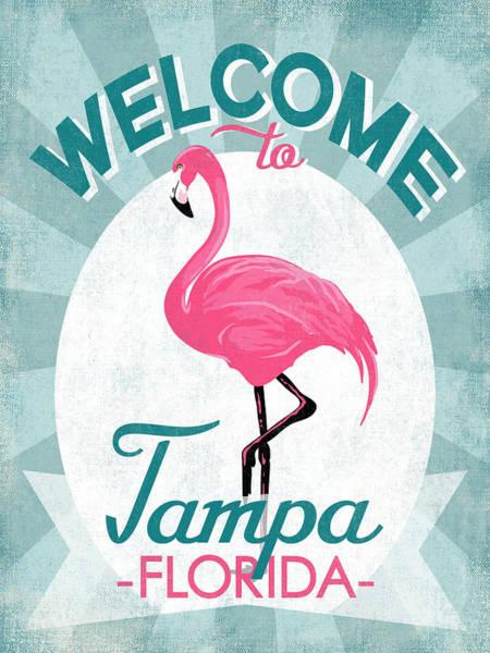 Tampa Digital Art - Tampa Florida Pink Flamingo by Flo Karp