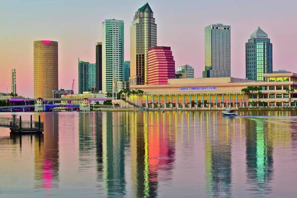 Wall Art - Photograph - Tampa In Vivid Color by Frozen in Time Fine Art Photography