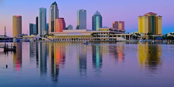 Wall Art - Photograph - Tampa Lavender Pano At Dusk by Frozen in Time Fine Art Photography
