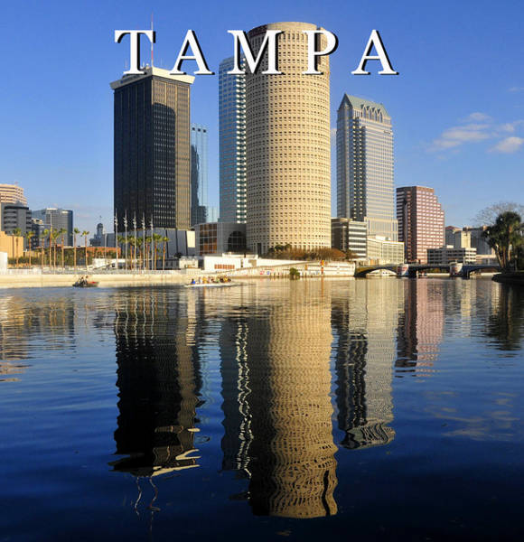 Wall Art - Photograph - Tampa Poster Work A by David Lee Thompson