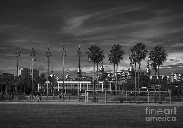 Photograph - Tampa Riverwalk Bw by Judy Hall-Folde