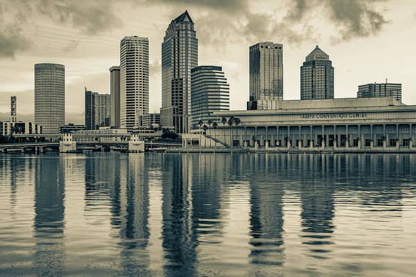 Wall Art - Photograph - Tampa Skyline Sepia Architecture On The Bay by Gregory Ballos