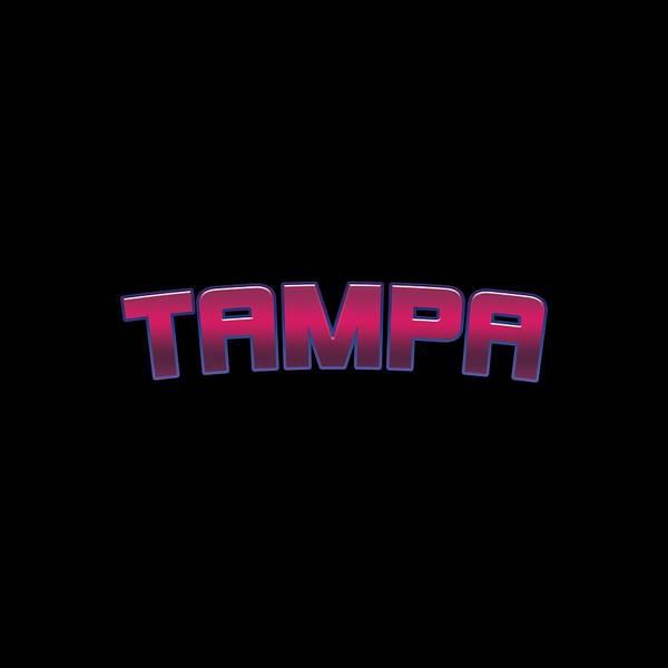 Tampa Digital Art - Tampa #tampa by TintoDesigns