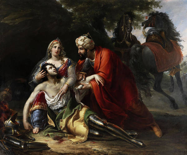 Delivering Painting - Tancred And Erminia by Pietro Lucchini