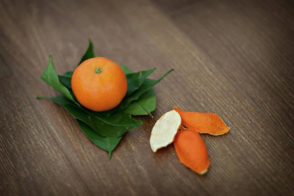 Wood Photograph - Tangerine by Carla Corigliano