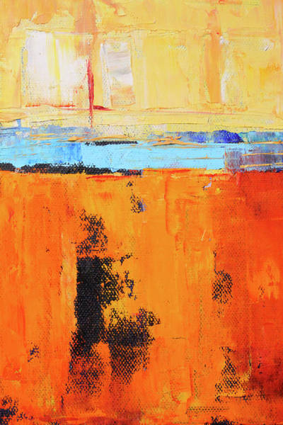 Wall Art - Painting - Tangerine Summer by Nancy Merkle