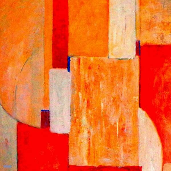 Painting - Tangerines Abstract by VIVA Anderson