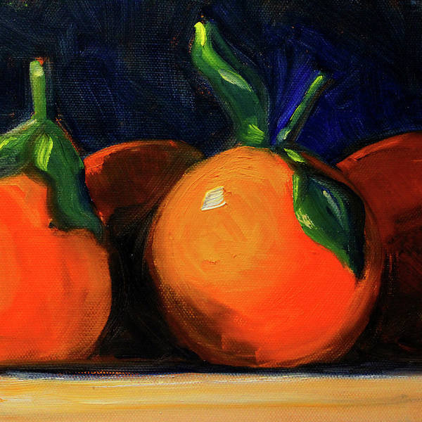 Wall Art - Painting - Tangerines by Nancy Merkle