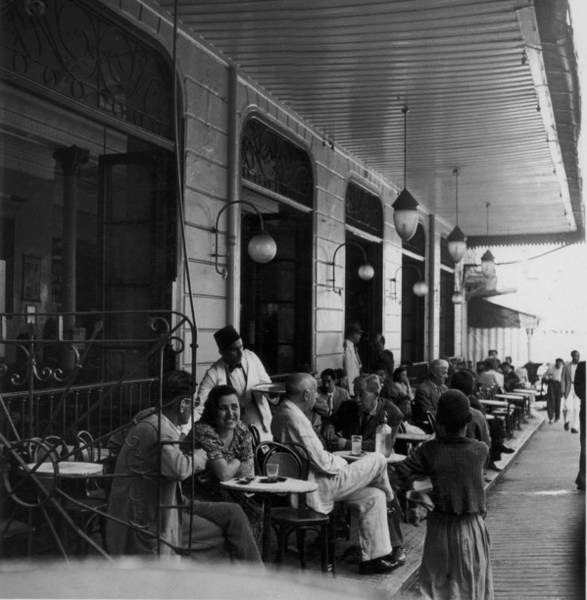 Waiter Photograph - Tangier Cafe by George Pickow