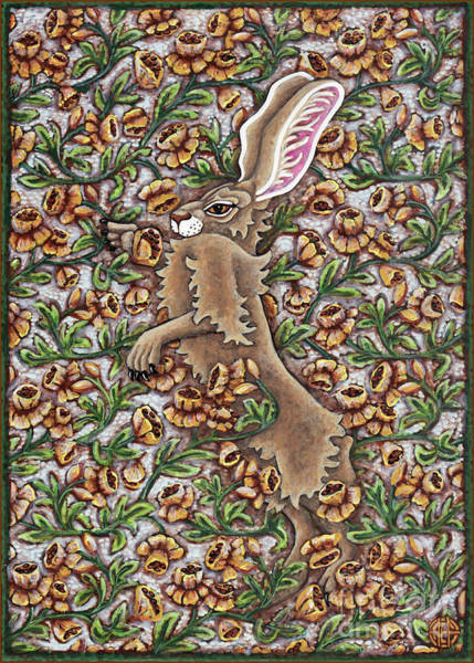 Painting - Tangled Hare 1 by Amy E Fraser