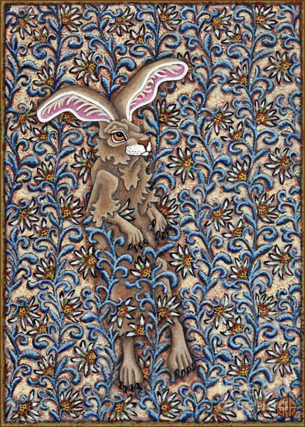 Painting - Tangled Hare 2 by Amy E Fraser