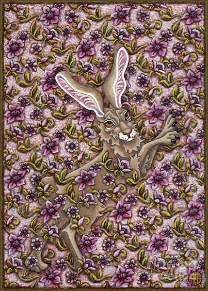 Painting - Tangled Hare 3 by Amy E Fraser