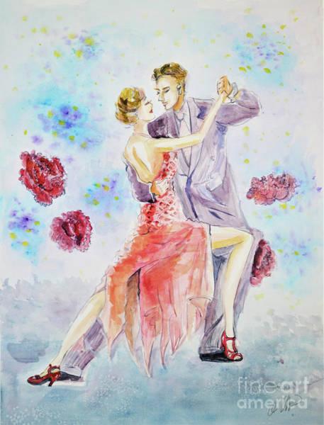Tango Dancers Art Print