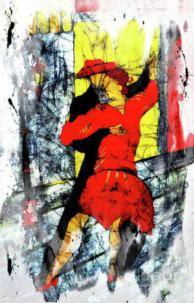 Digital Art - Tango Time In Buenos Aires by Joseph Hendrix