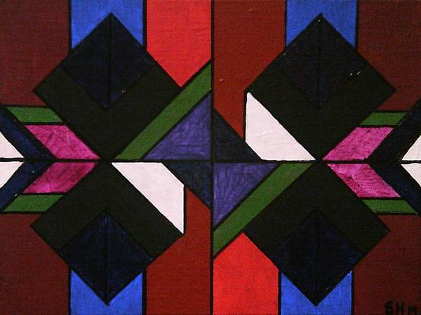 Painting - Tangram Art Number 5 Stained Glass by Samantha Galactica