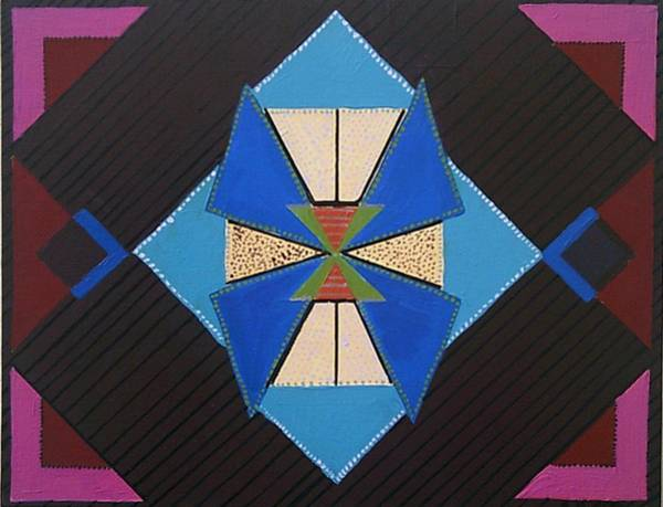Painting - Tangram Geometric #1 by Samantha Galactica