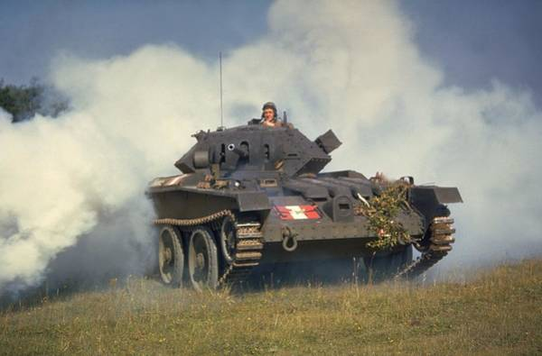 British Armed Forces Photograph - Tank In Action by Fox Photos