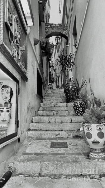 Photograph - Taormina Steps by Peter Skelton