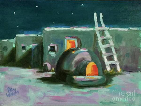 Painting - Taos At Night by Patsy Walton