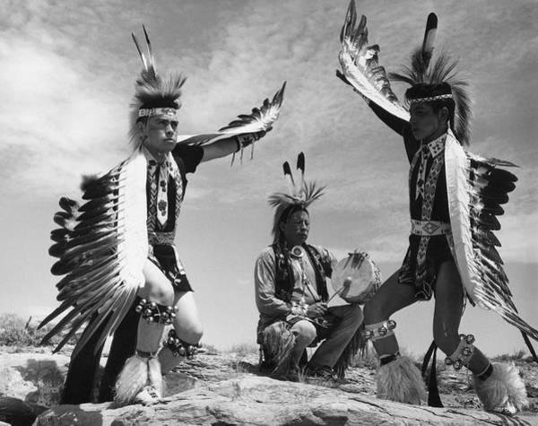 Indigenous People Photograph - Taos Dance by Three Lions
