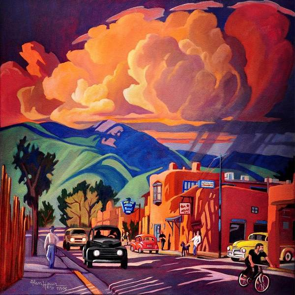 Painting - Taos Inn Monsoon by Art West