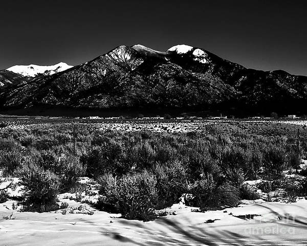 Photograph - Taos Mountain In The Zone by Charles Muhle