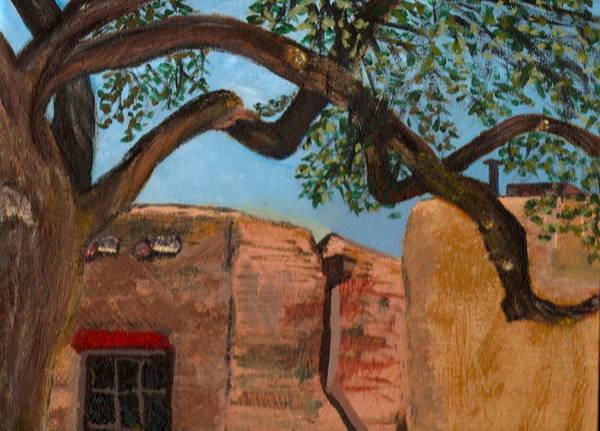 Wall Art - Painting - Taos Plaza by Rika Maja Duevel