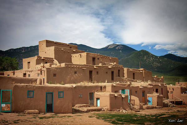 Wall Art - Photograph - Taos Pueblo, New Mexico by Yuri Lev