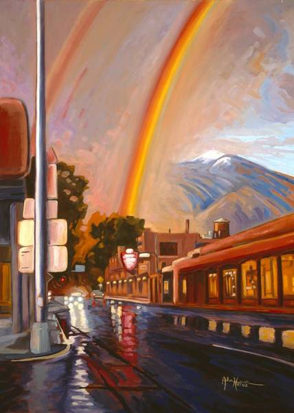 Painting - Taos Rainbow by Art West