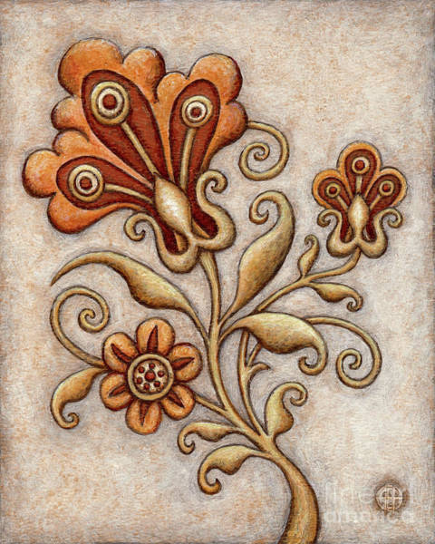 Painting - Tapestry Flower 3 by Amy E Fraser