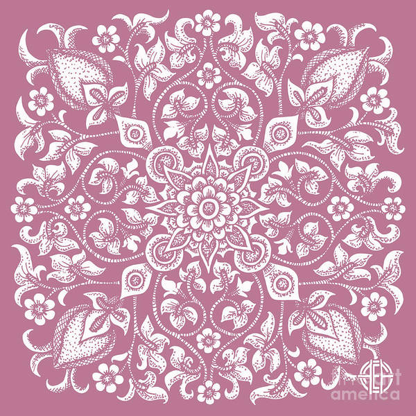 Drawing - Tapestry Square 12 Rose Silk by Amy E Fraser