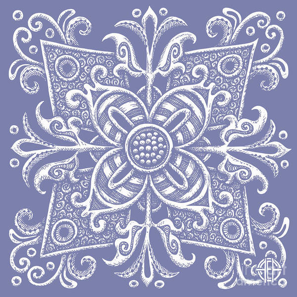 Drawing - Tapestry Square 18 Modest Mauve by Amy E Fraser