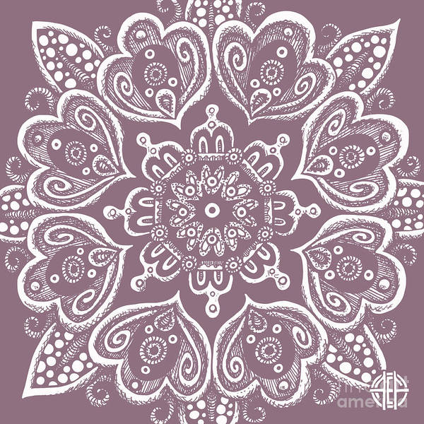 Drawing - Tapestry Square 8 Legendary Lilac by Amy E Fraser