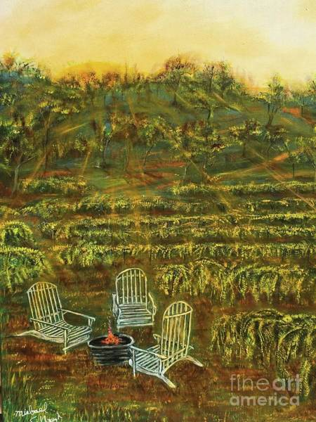 Wall Art - Painting - Taplin Rd. Vineyard by Michael Silbaugh