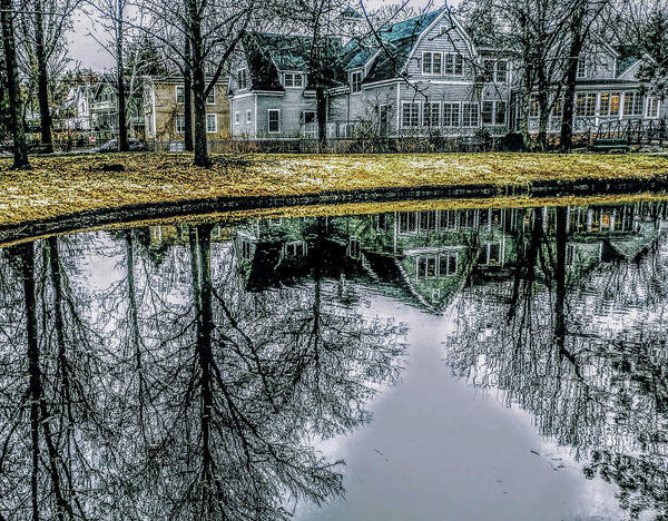 Photograph - Tappan Library Reflection by Roger Bester